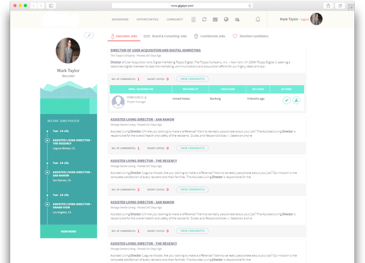 Curated job openings